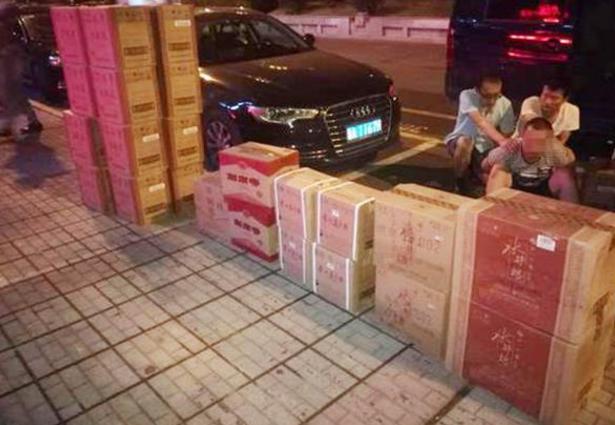 湖南查获五粮液、茅台等多品牌假酒两千余瓶